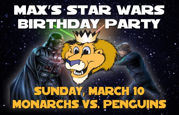 Manchester Monarchs Max's Star Wars Birthday